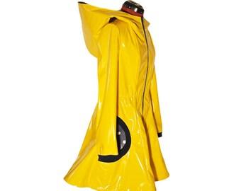 Glossy Rain Coat YELLOW RAIN