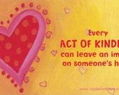 Fridge Magnets - Act of Kindness, Inspirational Quotes, Positive Quotes, Motivational Quote,Kindness Matters, Women's Gift, Stocking Stuffer
