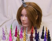 horns fantasy polymer clay wearable UNICORN HORN pony costume cosplay mlp headband CUSTOM made to order in any color!