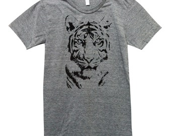 Tiger T-Shirt -  Big Cat Mens Shirt - Available in sizes S, M, L, XL