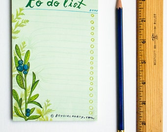 to-do notepad, daily to do list notepad, daily todo list, to-do list notepad, botanical gifts, teacher gifts, productive planners daily task
