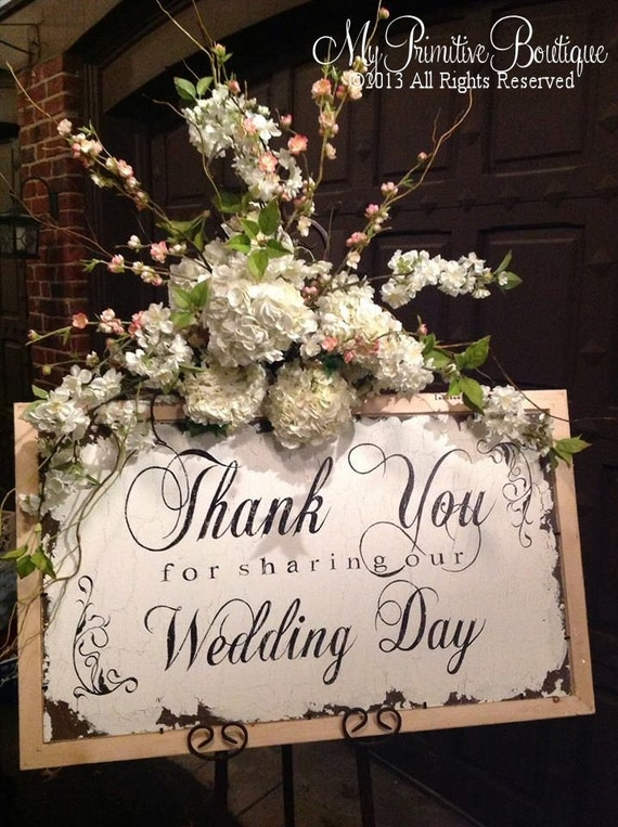 Thank You Sign for Weddings | Wedding Thank you Sign | Thank You Sign | Thank you Card Ideas | Thank you for sharing our Wedding Day Sign