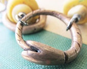 Ouroboros Bracelet - Bronze Snakes Antique Yellow Glass African Trade Beads Bone Oxidized Recycled Sterling Silver Toggle - by Bijoutiful