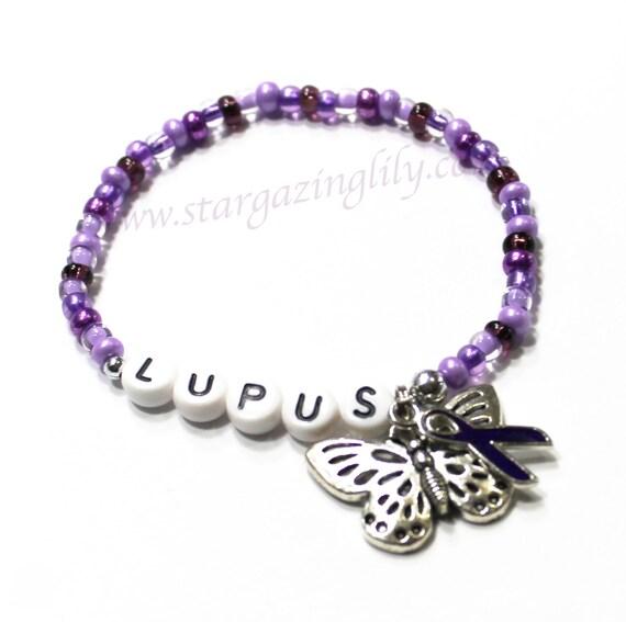 lupus awareness bracelet personalized name bracelet with