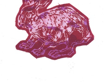 rabbit patch in fuschia and red