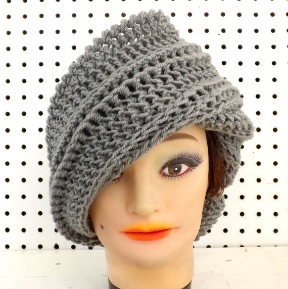JUDY Crochet Beanie Hat with Extra Wide Brim