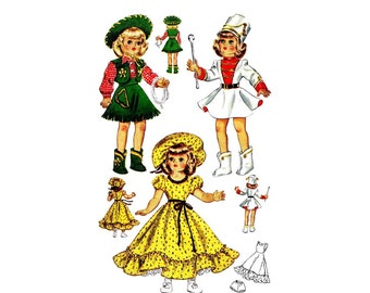 1950s Doll Clothes for Toni Doll McCall 1561 Vintage Sewing Pattern 16 inch Doll ORIGINAL