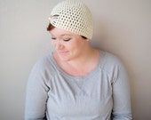 Milky White Flapper Style Cloche Hat - Design your own hat with colors and brooches - Winter Hats for Women and Baby Girls