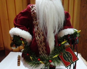 13 inch porcelain santa doll from 1993