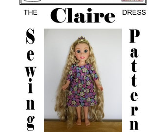 Claire Dress for Disney Princess & Me (ToysRUs) by Dolly Delicacies