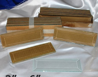 10 Pack of 2 x 6 inch Clear Glass Bevels - Flat On Back for Jewelry, Solder Art, Stained Glass