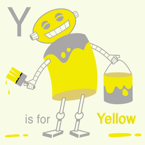 yellow letter alphabet print robot y is for yellow letter 25858 | il 570xN.624443016 4mwg