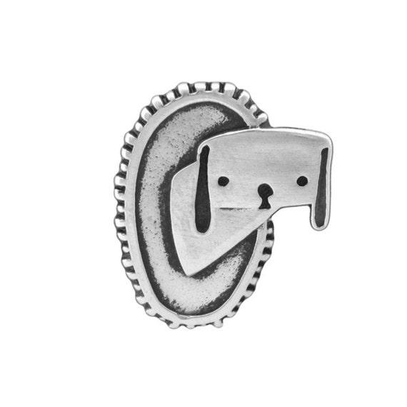 Framed Dog Necklace - Silver Dog Necklace