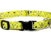 Cute Cat Collar - Yellow Bandana - Breakaway Safety Cute Fancy Cat Kitten Collar