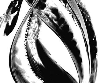 Minimal White Black Painting BW Abstract Art Artwork High Contrast Depth Black Magic 324 Minimalism Minimalist Modern Contemporary Cummings
