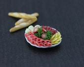 Deli Meat and Cheese Platter - 1:12 Dollhouse Backyard Feast Collection