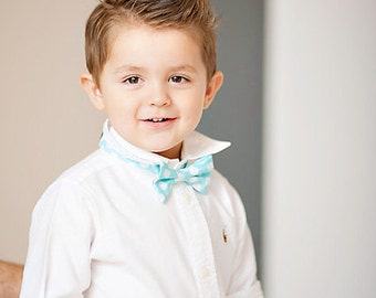Aqua Dot Boy's Bow Tie