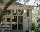 Wedding Bunting 80 Feet, Custom Bridal Flag Banner Decorations in Your Chosen Colors.  TWO X 40 Foot Bunting