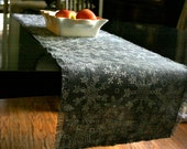 Gray Sparkle Snowflake Table runner