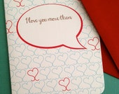 I love you more than...- single card