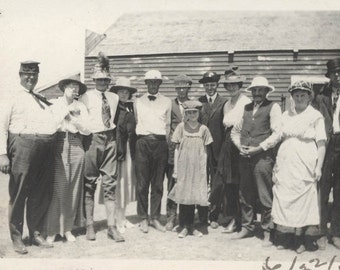 vintage photo 1919 Volt Montana Group Costume Hats Men wear Women and Women Wear Mens Hats