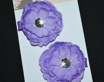 Purple Flower Hair Clip Set - Buy 3 Items, Get 1 Free