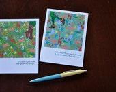 ROBIN Hood and MAID Marian faerie tale feet blank greeting cards