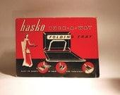 Hasko Tuck-a-way Folding Tray Mid Century Serving tray, Coronet Haskelite vintage Home decor housewares