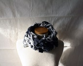 ready to ship // neck scarf / blue and grey / by replicca / one size