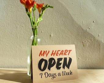My Heart Open 7 Days card