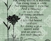 Digital Download Irish Prayer, Irish Verse, Saying with Celtic Knots & Flowers, St Patricks Day digital stamp, Typography, Digital Transfer