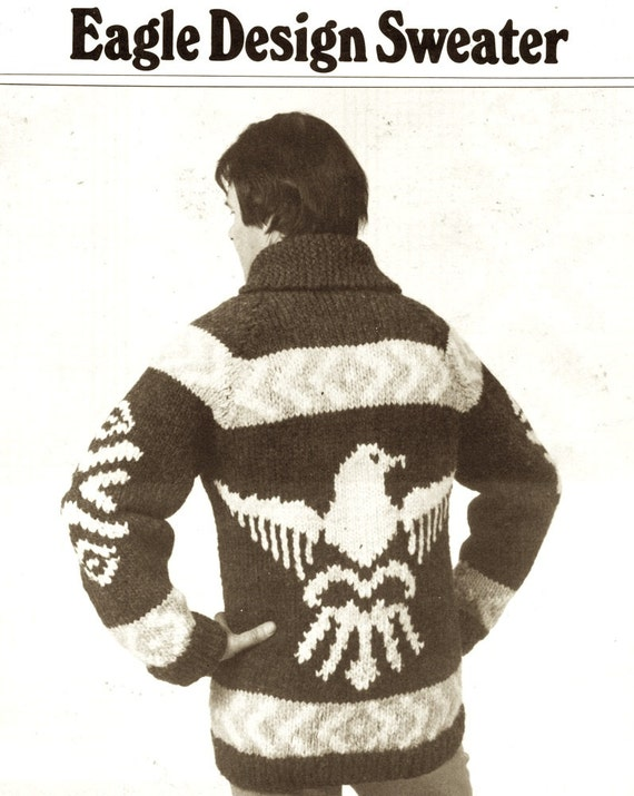 Mens Eagle sweater knitting pattern American Eagle sweater