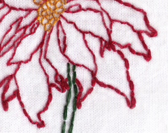 Hand Embroidery Pattern-Poinsettia