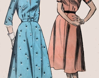 1950s Womens Rockabilly Dress Advance 6268 Vintage 50s Sewing Pattern Size 16 B34