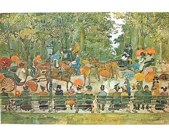 Masterpiece Painting - Maurice Prendergast - Central Park 1901 - 1966 Vintage Print Reproduction - 12 x 15