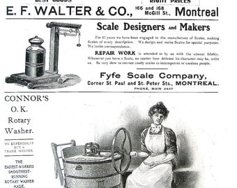 1904 Antique Hardware Ad - Guns, Scales, Washer, Shears - Canada Hardware and Metal Catalog