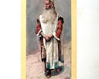 Moses - 1904 Antique James Tissot Chromolithograph Book Page
