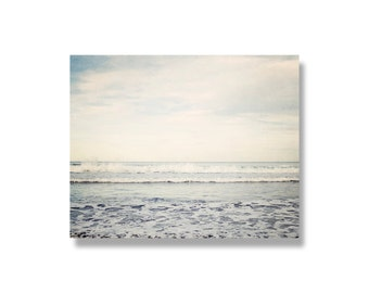 Ocean photo canvas wrap, blue beach decor, rolling waves, sea, ocean canvas art, ocean photography, ocean art, Pacific Ocean- Winter Waves