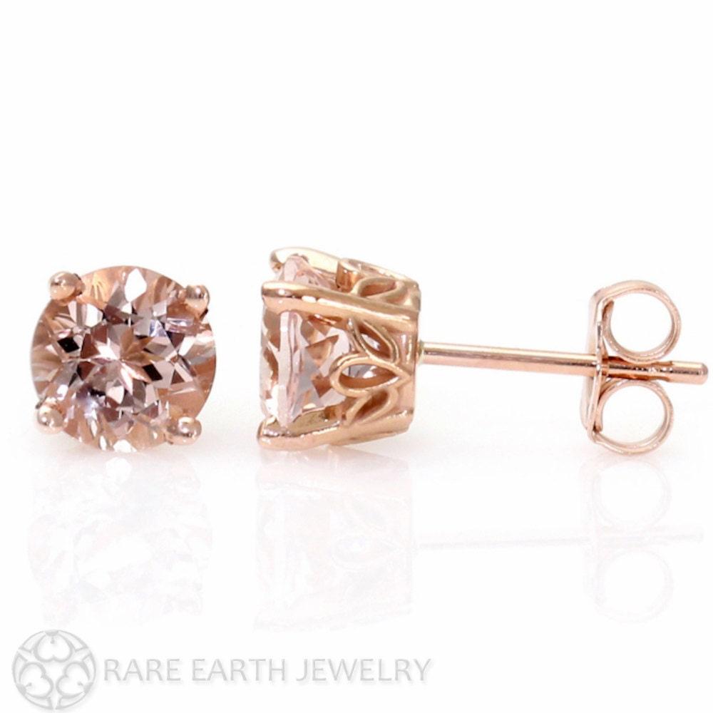 Morganite Earrings White Gold Morganite Earrings Rose Gold