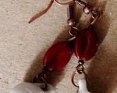 Pink Swirl Coffee Cup Earrings