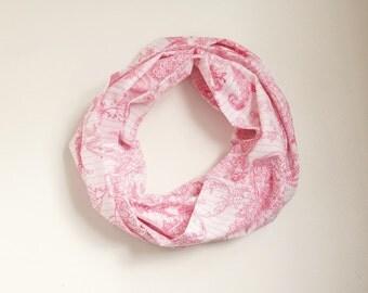 NEW PRINT Infinity Scarf,  Loop Scarf...Flower Dancing.....Cotton... Print Scarf.