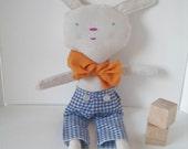 Handmade Cloth Doll, Eco Friendly Doll, Plush Toy, Soft Doll, Doll, Mr Cozy Bunny