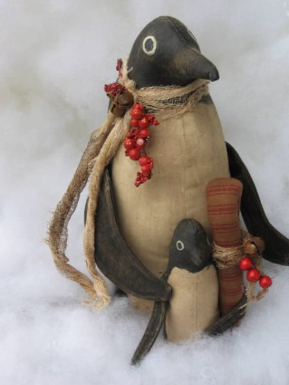 Primitive Penguin Home Decor Decoration E Pattern By Wilmaswimzees