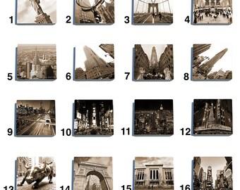 New York City Stone Drink Coaster Set - Pick Any 4.