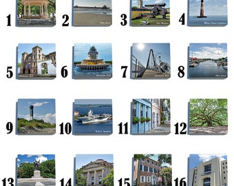Charleston - Stone Coaster Tile Set - Pick any Four images - 16 to choose from