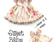 Whimsy Couture Sewing Pattern -- Sweet Baby Doll --Dress 0 months through 12 girls PDF Instant