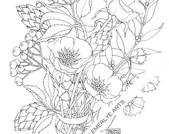 Printable Coloring Page - Poppy Love