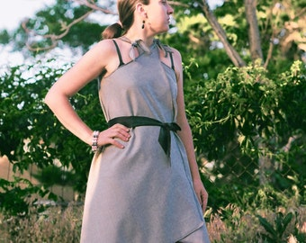 Purl Edge Wrap Dress---Custom Made in Wools and Silks