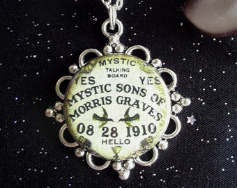Ouija Board Pendant on Silver Plated Chain