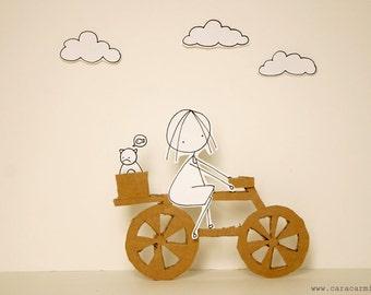 Love my bike - Photo print - Paper diorama - letter size